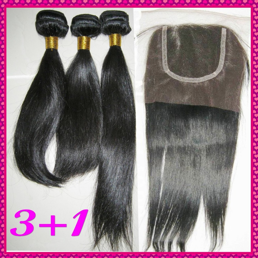 Perfect matches 3 bundles Filipino straight hair plus one lace top closure(none silk base),Yes save money !!(China (Mainland))