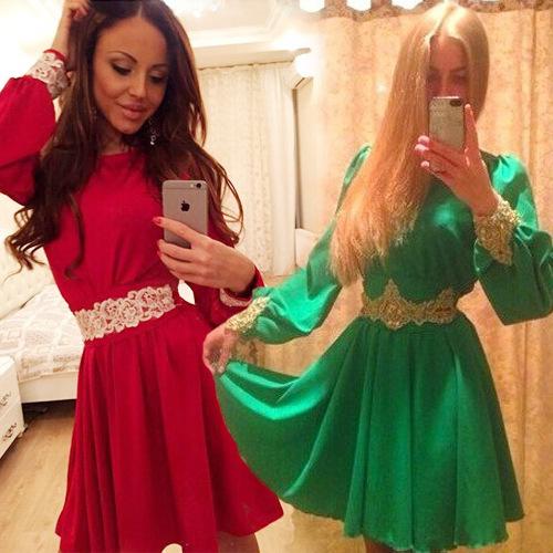 Женское платье Lantern Sleeve DRESS 2015 vestidos LJ621QAFC женское платье red long dress a line lantern sleeve 2015 lyd0352