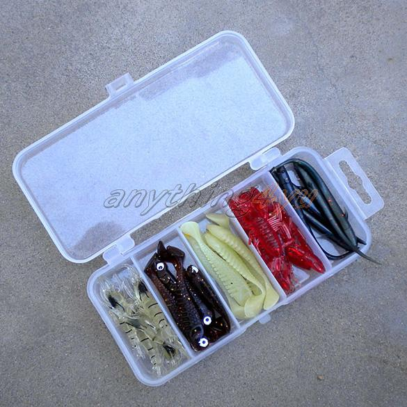 ONLY Transparent Plastic Fishing Lure Bait Box Storage Organizer Container Case(China (Mainland))