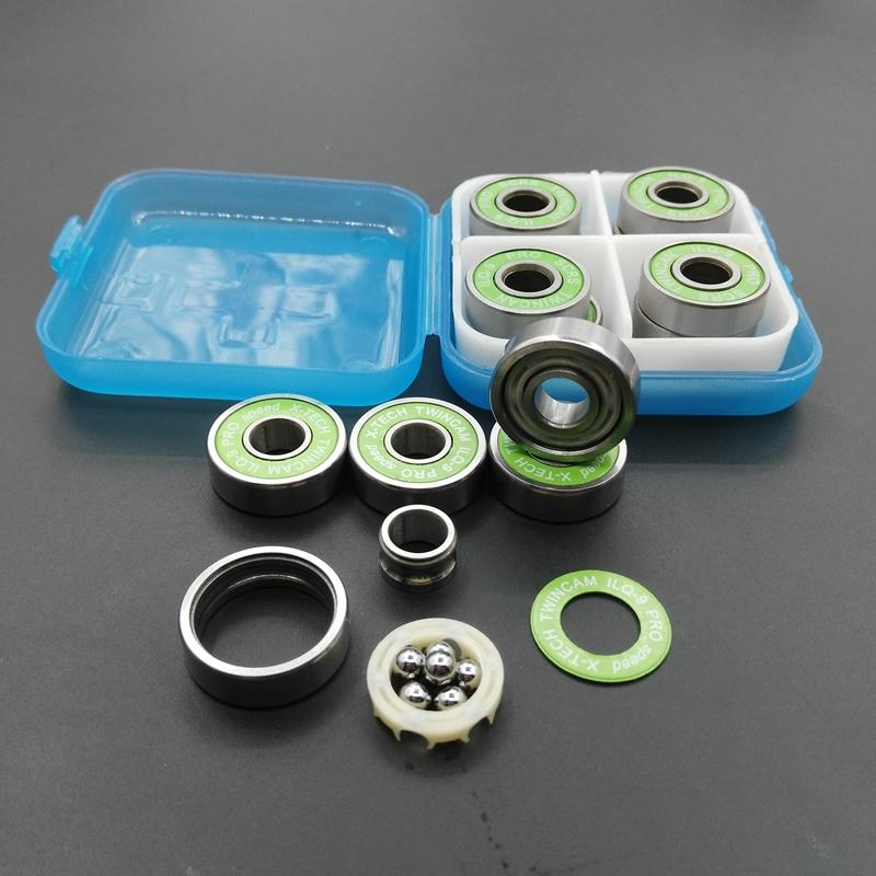 8pc Super Speed 6 ball ILQ9 Skate Bearing 608 TWINCAM Original Pro Speed Skateboard Scooter Longboard Speed Skating Shoe bearing(China (Mainland))