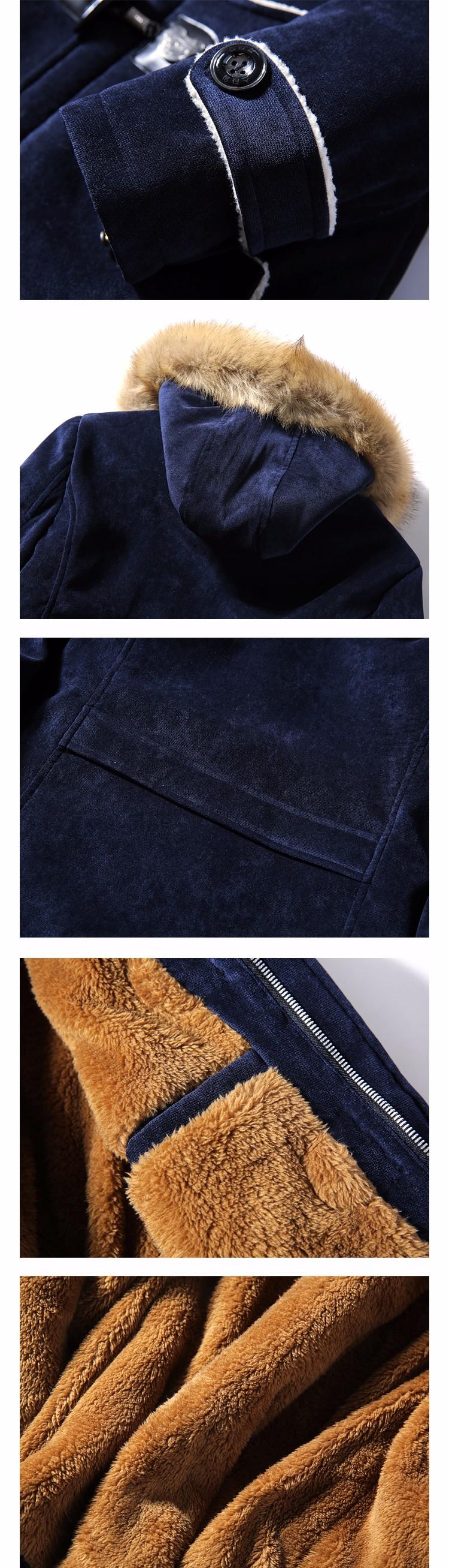 Скидки на Jaqueta masculina толстых мужчин Плюс бархатная куртка мужской Оленьей кожи, кожаные пару с капюшоном зимние куртки и пальто хлопка куртка человек