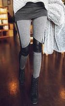 X-large size Fashion Women Winer Leggings Casual Stretchy Lady Sexy Legging Stitching Skinny Elastic Leggings Pants 1 PCS(China (Mainland))