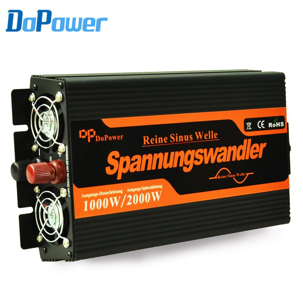 1000W Power Inverter Pure Sine Wave inverter DC 12V to 220V AC Converter Car inverters Solar Inverter Power Supply Meind(Hong Kong)