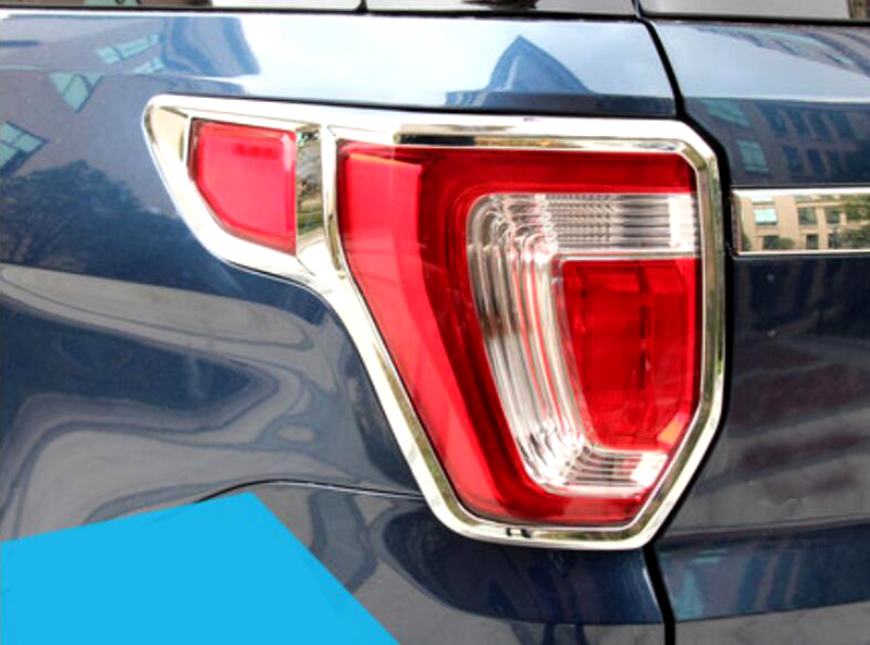 Фотография Rear tail light lamp cover trim 2pcs For Ford Explorer 2016 car styling