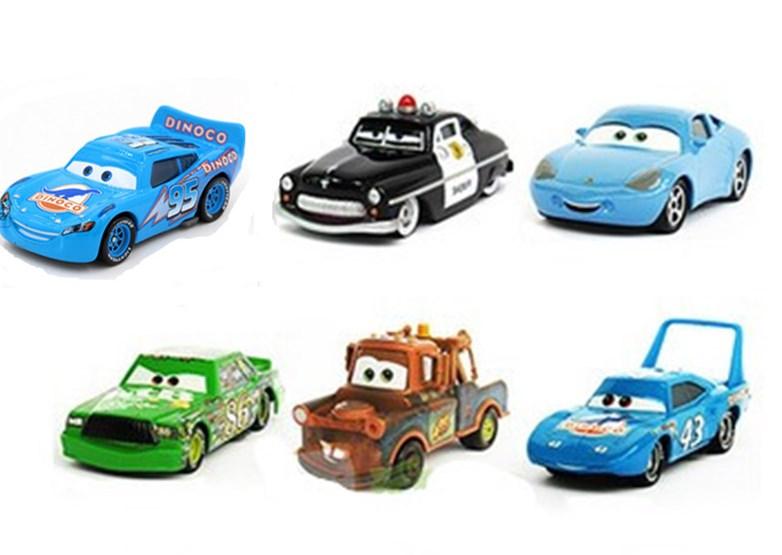 6Pcs/lot Pixar Car Sally/Holley/King/Francesco/mater 1:55 Metal Alloy/Plastic Diecast Toy Car kids toys(wanju043)(China (Mainland))