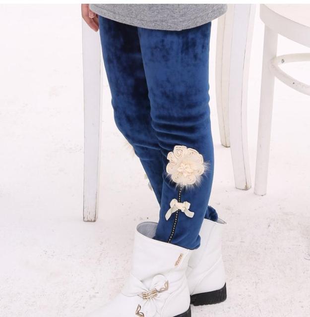 Мода новый свободного покроя весна теплая девочку узкие брюки, Для детей одежда для девочек, Детские цветочные брюки
