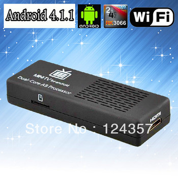 Promotion Original MK808 dual core Stick Tv box Android 4.1 Mini PC RK3066 1GB RAM 8GB Memory HDMI 1080P XMBC