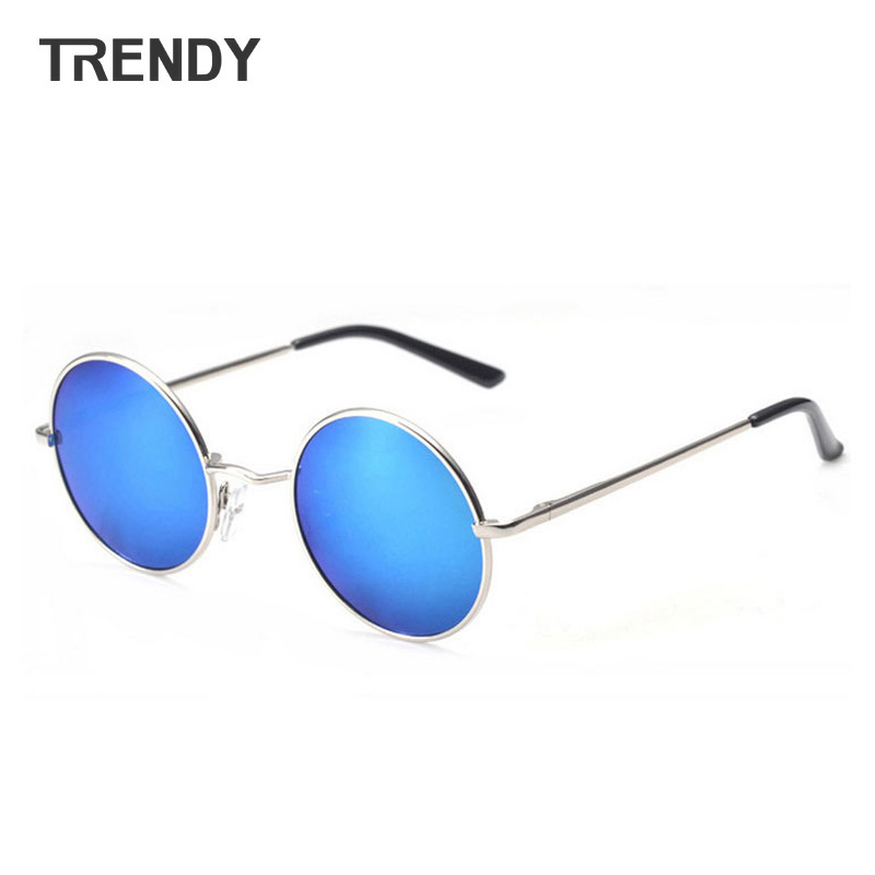 Vintage Round Polarized Sunglasses Men Sun Glasses Mirror Coating Lentes Eyewear oculos gafas de sol J10(China (Mainland))