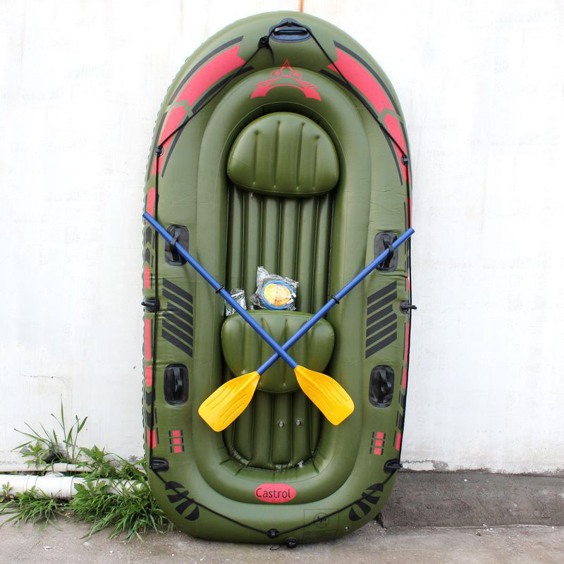 New Double persons Eco-friendly PVC inflatable boat air canoe for fishing sports air boat cart(130601)(China (Mainland))