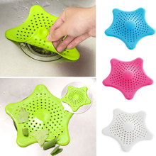 Hot New Vogue Cute Starfish Floor Drain Hair Stopper Bath Catcher Sink Strainer Sewer Filter Shower Cover 4 Colors Cheap Z1(China (Mainland))