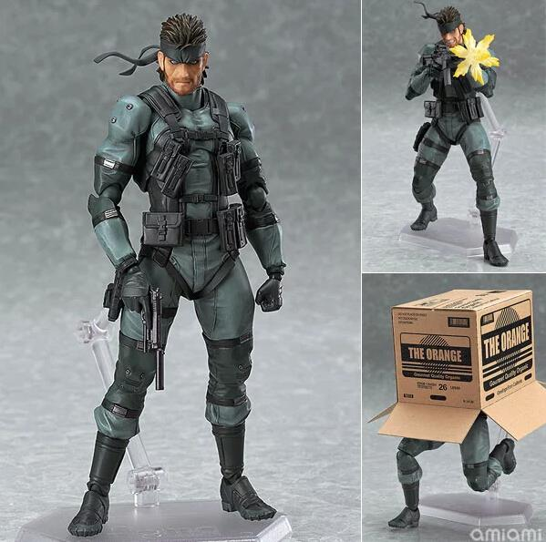 Action Figure Model Toys METAL GEAR SOLID 2: SONS OF LIBERTY Figma 243 Snake Anime Games 15cm For Boys(China (Mainland))