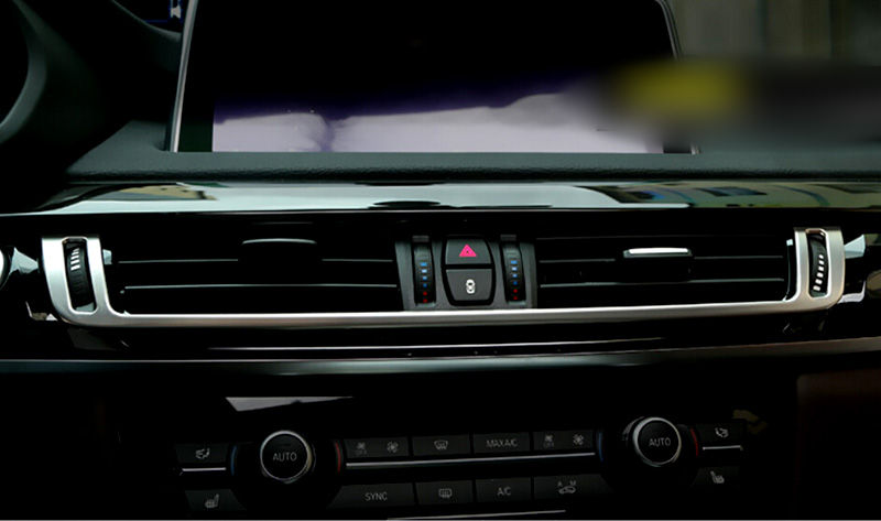 Middle Console Air Vent Outlet Cover Trim 1pcs For BMW X5 F15 2014 2015 Car interior Accessories Car-styling<br><br>Aliexpress