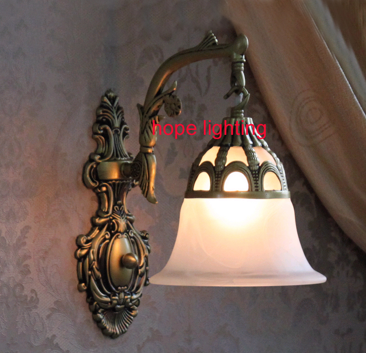 Wall Light Glass Lamp Shades : single wall lighting bedroom wall lamps glass shade led wall light bedside mirror lighting ...