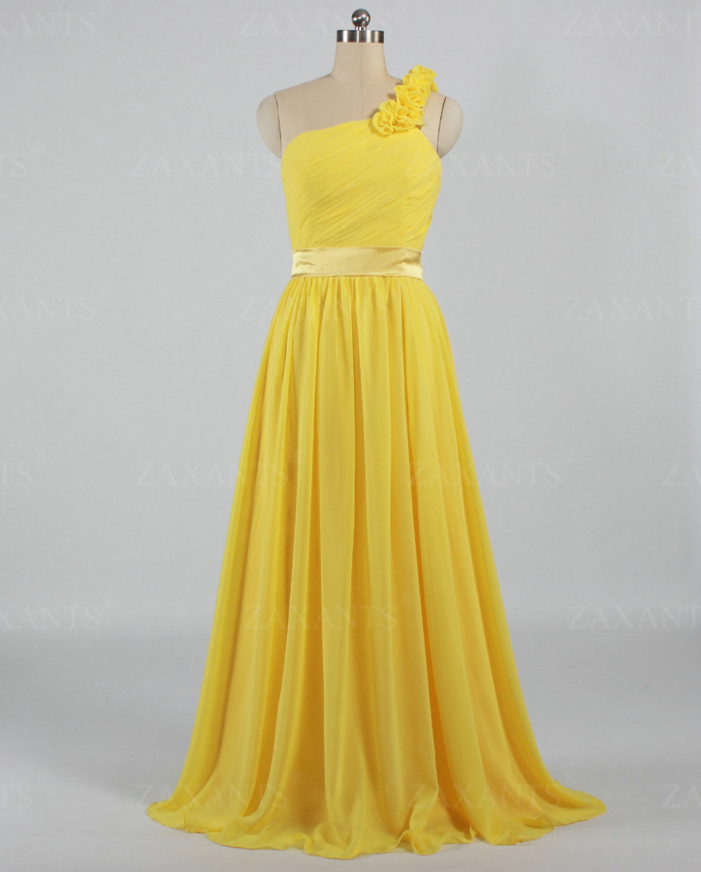 E1758 free shipping vinage wedding party guest one for Yellow wedding guest dress