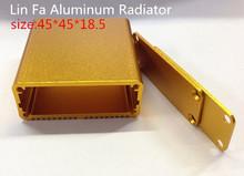 20 шт. много, алюминиевый корпус проект коробка 18.5 * 45 * 45 мм топ продаж печатной платы алюминиевый шкаф