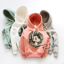 Casual boys girls sport hoodies cartoon sweatshirt children clothes baby kids coat jacket clothing 4 colors Autumn plus velvet