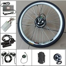 Free shipping! 36v 10ah lithium battery + 36v 350w electric bike conversion kits with front wheel(China (Mainland))