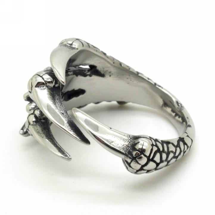 High Quality Size 8-13 Stainless Steel Rings Men's Boys Eagle Claw Knuckle Finger Rings Style Free Shipping(China (Mainland))