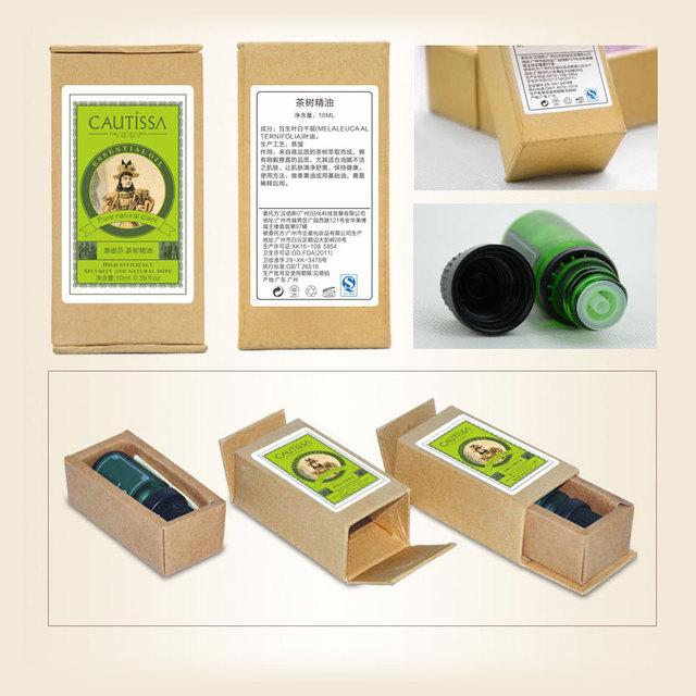 CAUTISSA Tea Tree & Peppermint essential oil SET for Acne Treatment Black Head Clean Pores Face care anti acne sterilized 2PCS