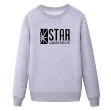 famous brand STAR S.T.A.R.labs black sweatshirt jumper the flash gotham city comic books superman tv series o-neck hoody