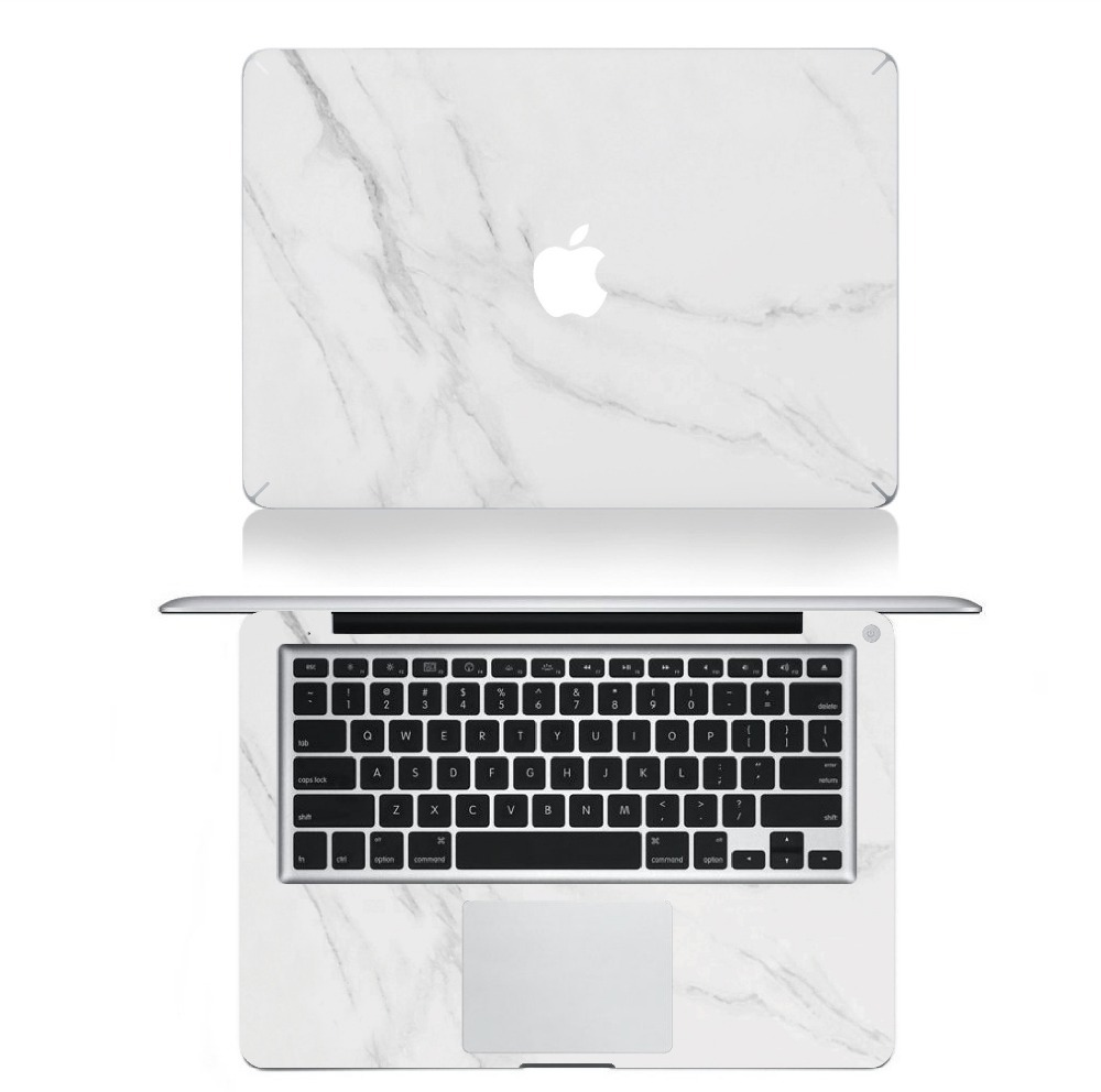 Marble grain sticker full body laptop decal case for apple macbook