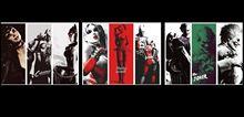 "Buy Batman Arkham Joker Harley Quinn Fabric poster 28"" x 13"" Decor 53 for $6.99 in AliExpress store"