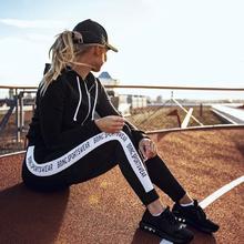 Buy Top 2017 Woman Hollow Sporting Pants Workout Fitness Leggings High Waist Leggings Elastic Black Skinny Letter Print for $10.41 in AliExpress store