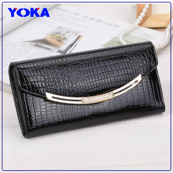 Free dropping Top grade 100% genuine leather wallets women fashion long real cow leather wallets ladies clutch bag purse(China (Mainland))