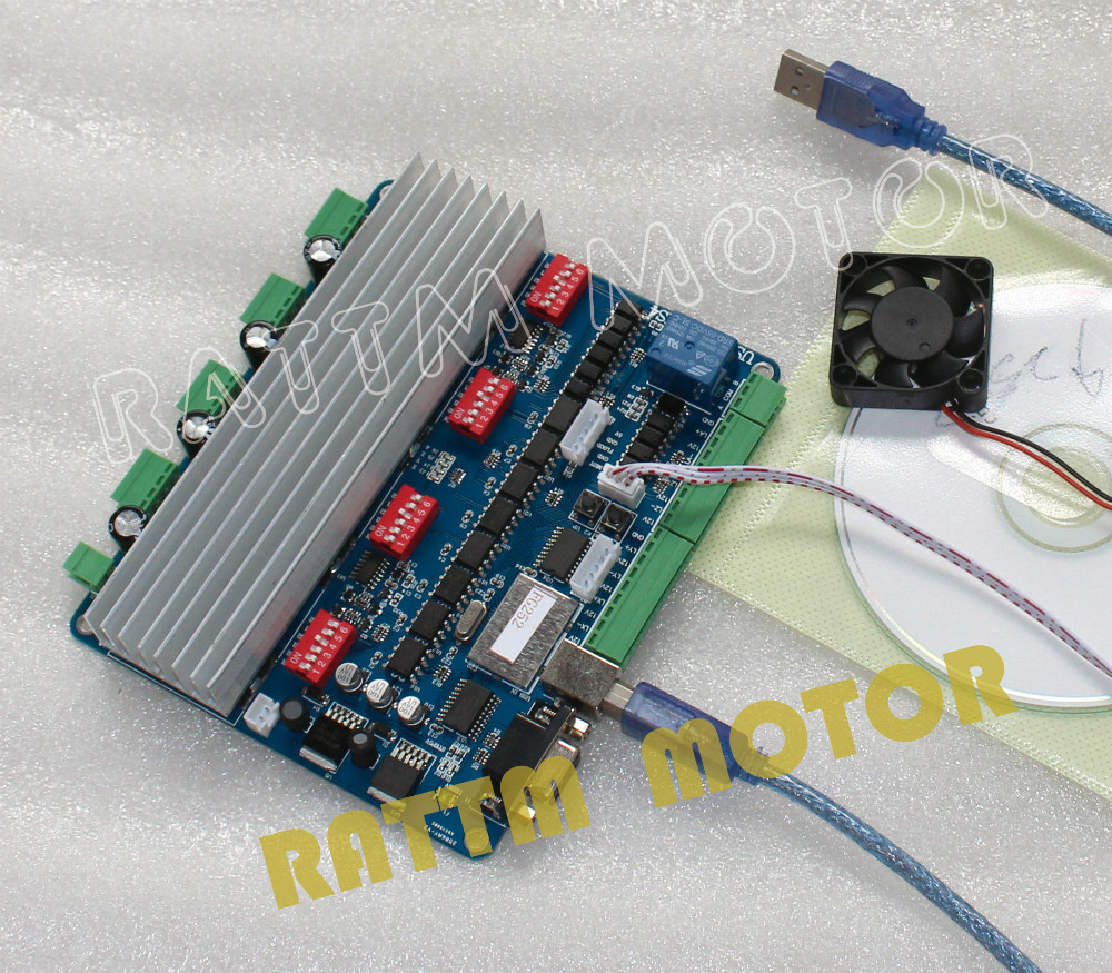 Buy new 4 axis usb cnc controller board 4 axis stepper motor controller
