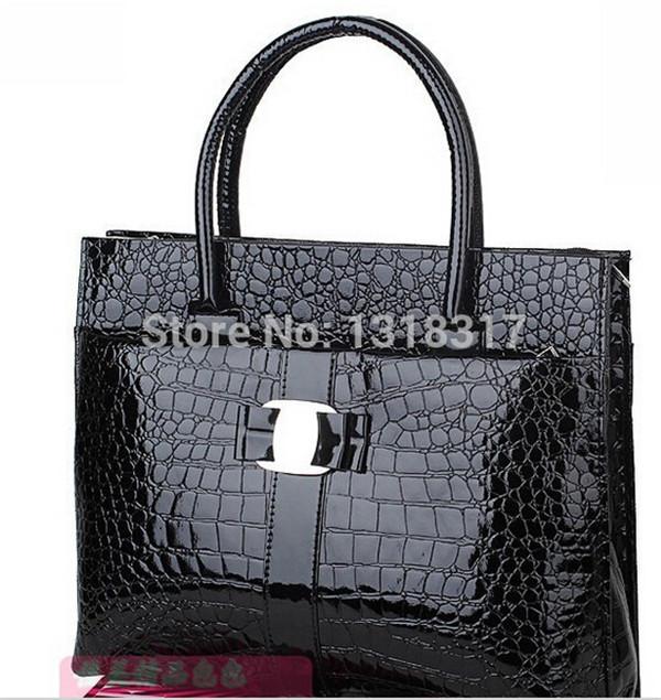 new Fake Crocodile women handbag Retro Pack shoulder bag for women PU leather bags high quality bags,free shipping WB503010.(China (Mainland))