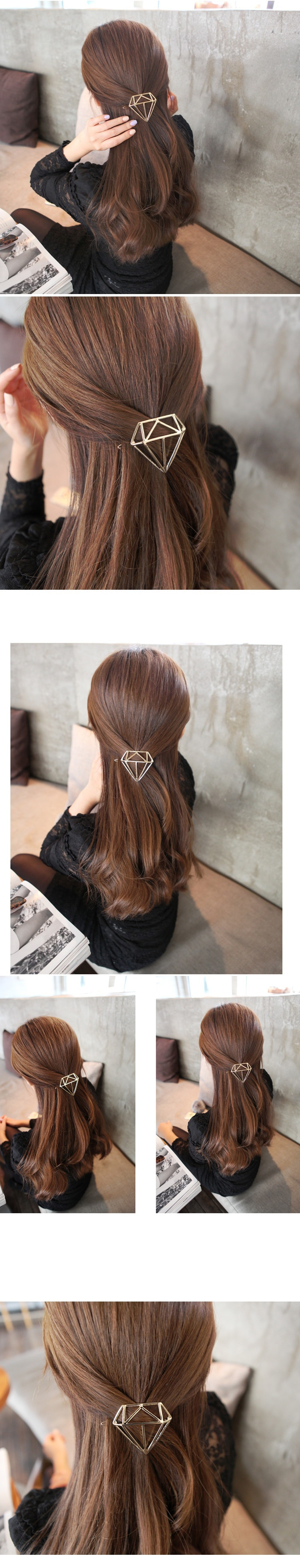 The New Hairpin Princess Crown Tiara Girl Hair Accessories Hollow Hairpin Hairpin Jewelry Women Members
