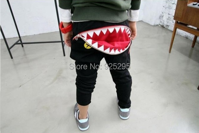 Hot Baby Kids Boys Girls Zipper Design Casual Harem Pants Toddler Loose Trousers(China (Mainland))