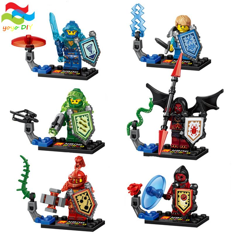 YoYo 6Pcs/lot Nexo Future Knight Royal Soldier Building Block Sets Ultimate Aaron Kid Toy for Compatible with Lego(China (Mainland))