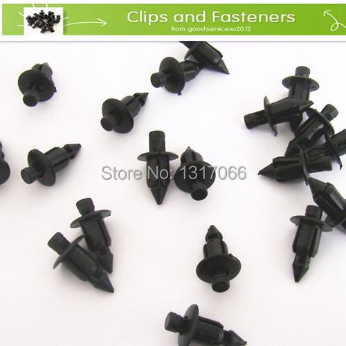 free shipping 25 pcs fender panel fastener clip retainer plastic rivet suzuki fit 6mm hole in. Black Bedroom Furniture Sets. Home Design Ideas