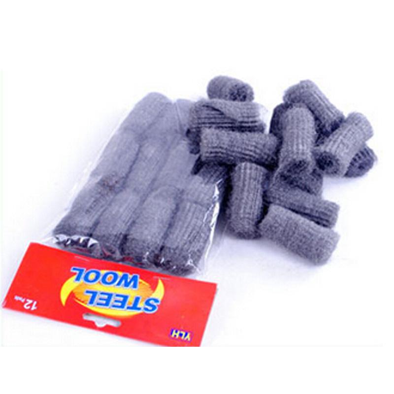 1Set/12pcs Kitchen Wash Dishes Cleaning Tool Steel Wool Ball Pot Pan Dish Bowl Palm Brush Free Shipping(China (Mainland))