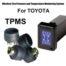 Wireless Tire Pressure Monitoring System Car TPMS for Toyota with 4pcs External sensor