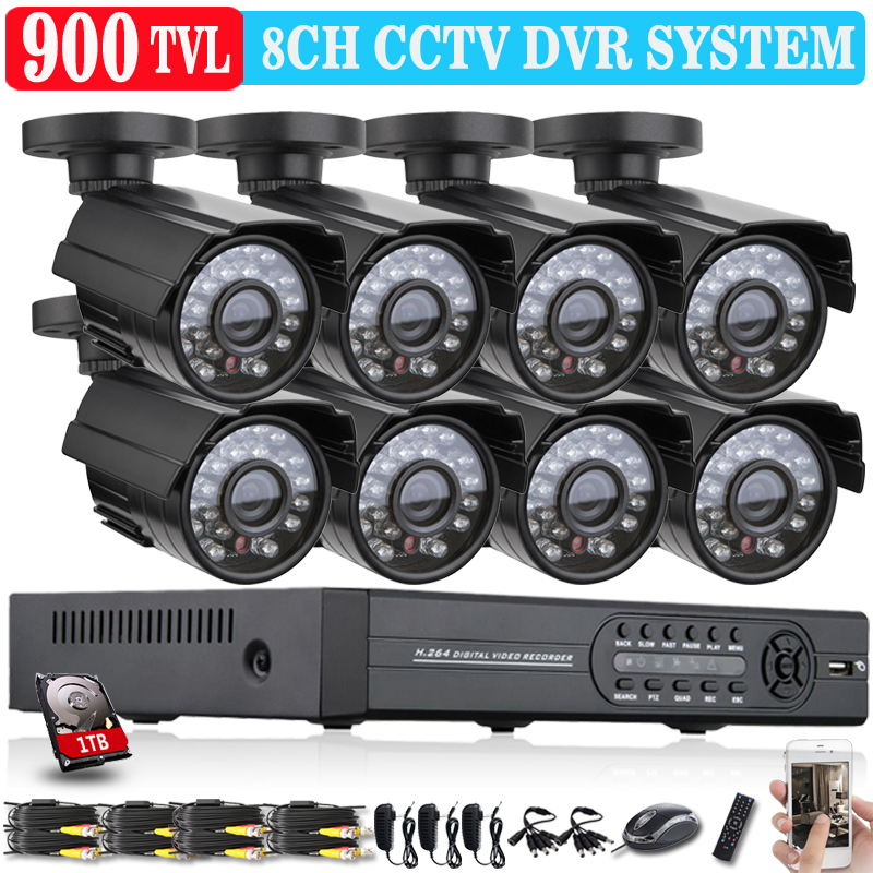 Free shipping, HD 1080p CCTV home security video surveillance system 8CH FULL 960H DVR kit Outdoor Camera P2P 3G WIFI 8CH CCTV(China (Mainland))
