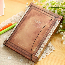 New A6 Vintage Retro Paper Cover Weekly Planer Notebook Hardcover Magnetic Notepad for gift Blank Paper Free shipping 149(China (Mainland))