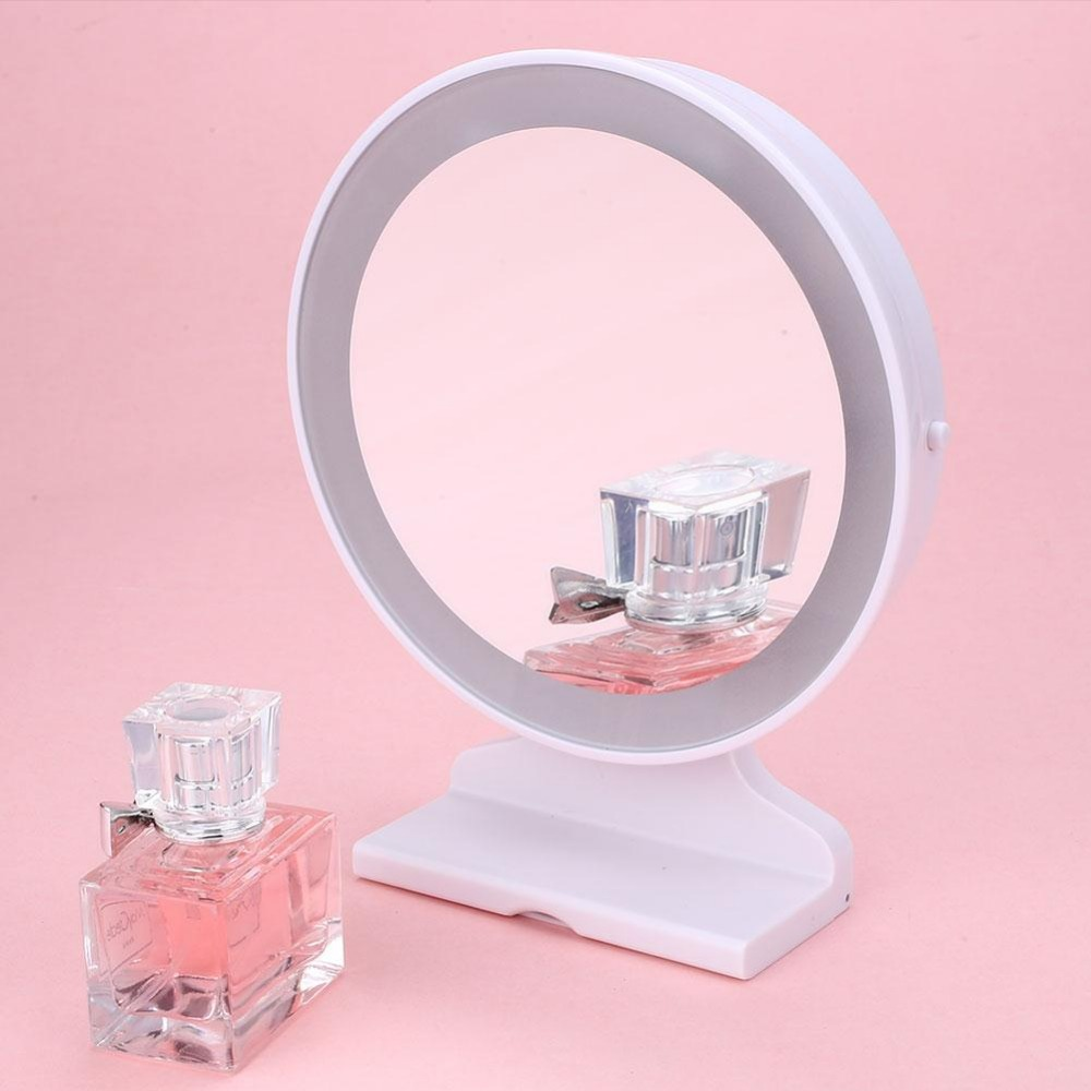 5X Magnification LED Desktop Table Wall Makeup Mirror Power Portable Cosmetic Mirror Decor Gift(China (Mainland))
