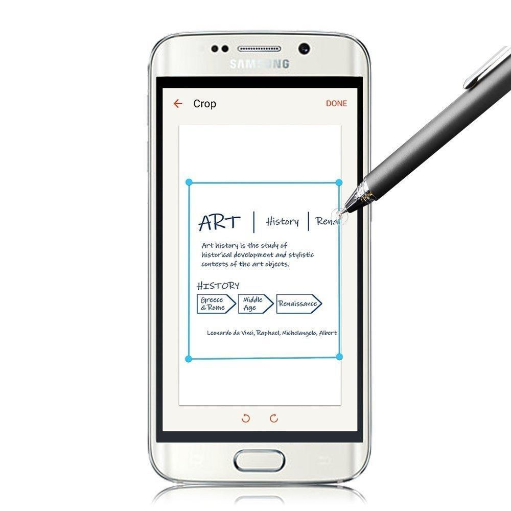 New Style Round Thin Tip Premium Capacitive Stylus Pen for Samsung Galaxy S6 / S6 Edge / S5 / Note 2 3 4 / Tab 3 / 4 / S / Pro(China (Mainland))
