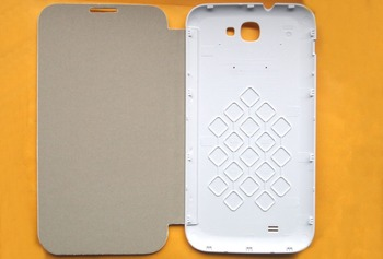 oroginal leather case & Screen Protector smart case for star N9599 Smart cell phone white