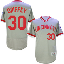2016 New Arrival Flexbase #5 Johnny bench #14 Pete rose #30 Ken Griffey throwback Stitched baseball jersey,Color Gray red(China (Mainland))