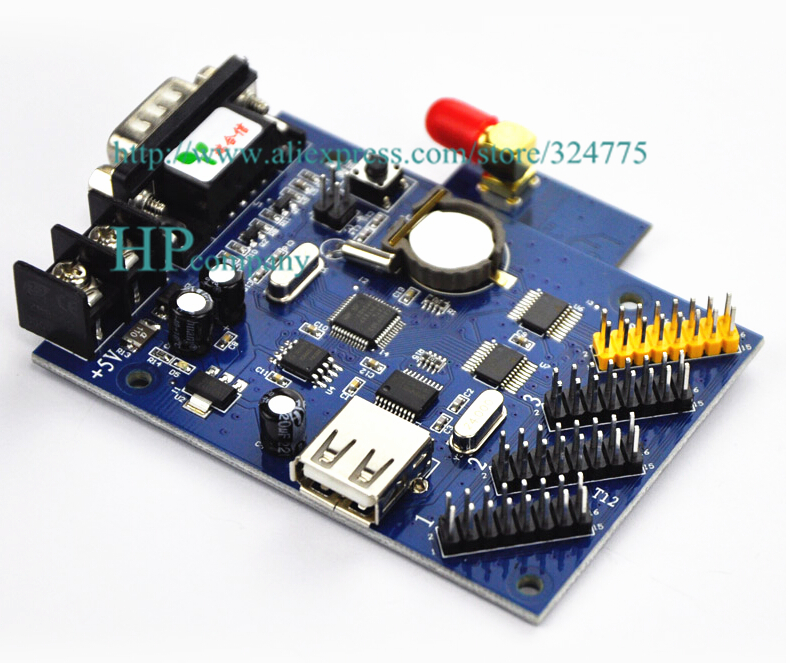 Led display control truck loading screen and WiFi wireless card u disk controller cards RH-48W(China (Mainland))