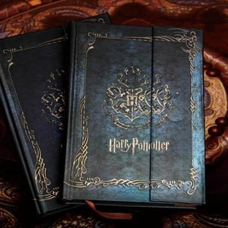 Vintage Harry Potter Diary Notebook with 2017-2018-2019 Calendar Retro Hard Cover Notepad Agenda Planner Stationery Gifts(China (Mainland))