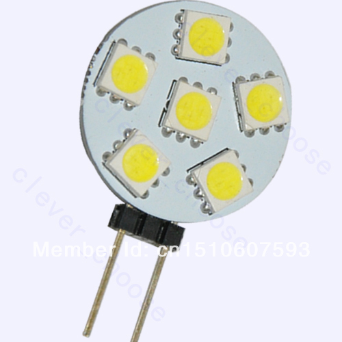 12 Volt Marine Lights: 2pcs G4 6 SMD LED Pure White Marine Light Bulb Lamp 12