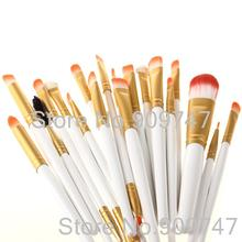 Pro 20Pcs Makeup Brushes White and Golden Colors Set Powder Foundation Eyeshadow Eyeliner Lip Brush Tool (China (Mainland))