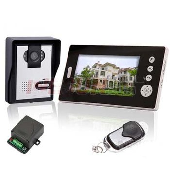 Wireless Home Door Phone CCTV  7 inch TFT 2.4GHz Monitor Video Doorphone Bell Intercom Door-key System