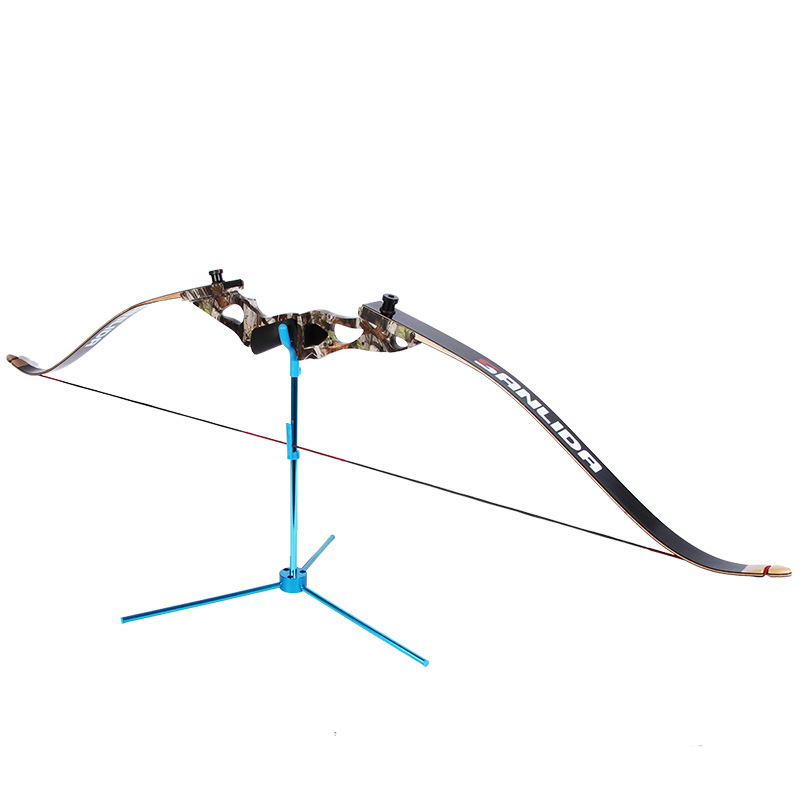 1pc New Hot Folded 42cm Archery Blue Compound Stand Hunting Bow Holder Recurve Bow Rack Removable