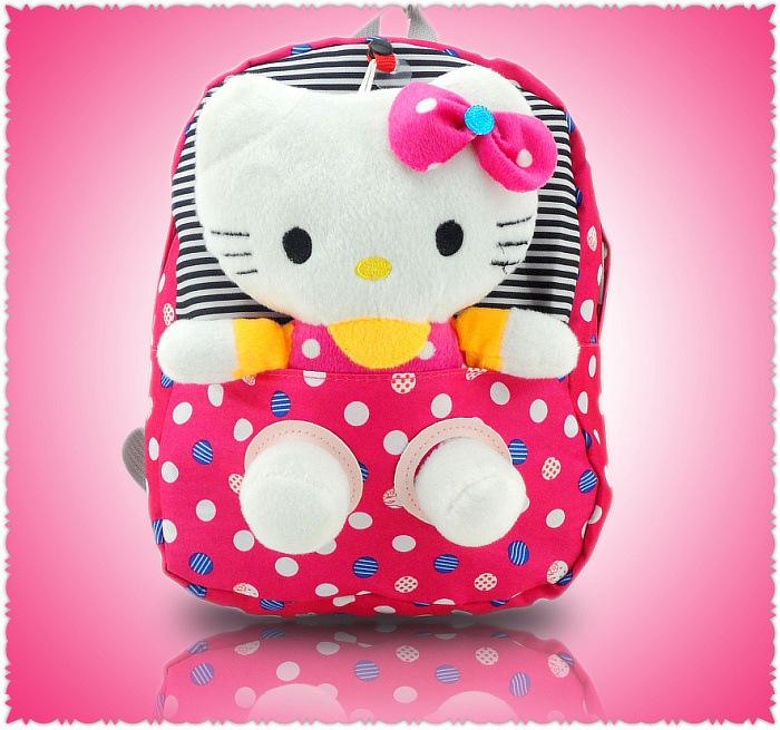 MI PEQUEÑA TRAVIESA (MINI FIC ) Nueva-Nylon-lindo-Dot-Hello-Kitty-mochilas-para-ni%C3%B1os-historieta-de-la-felpa-del-bolso-de