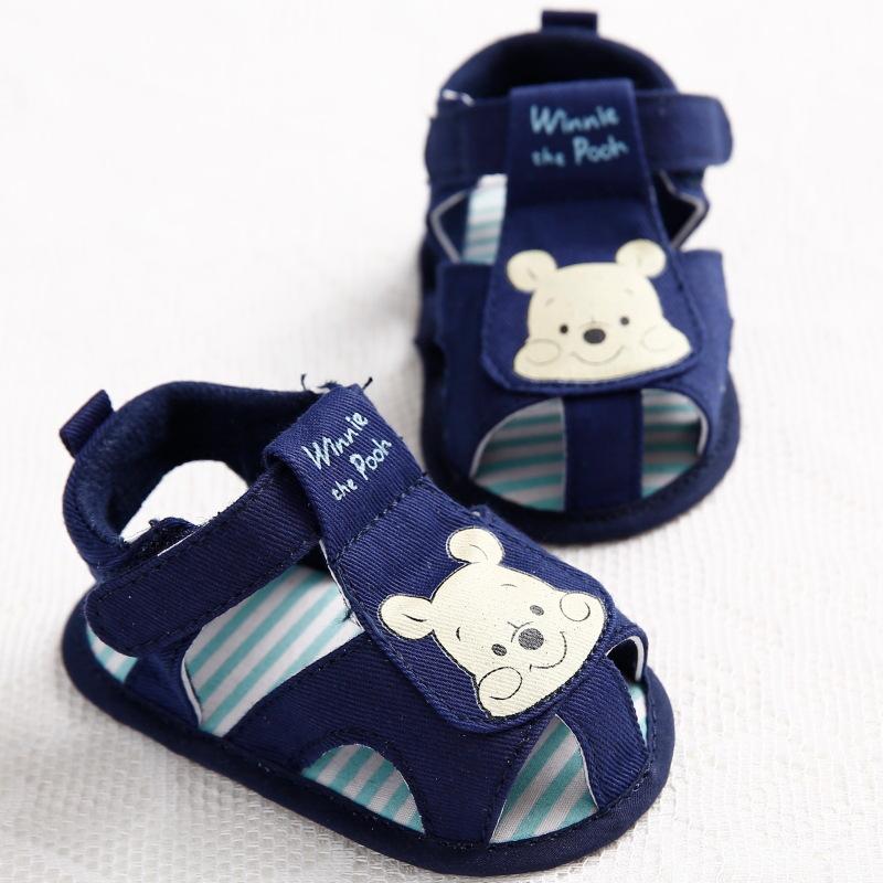Hot New Summer Cartoon Bear Baby Boys Girls Shoes Prewalker Soft Bottom Toddler Kids Garden Shoes Baby Dress Summer Shoes(China (Mainland))